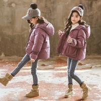 女童冬装新款儿童女孩中大童面包服棉衣外套