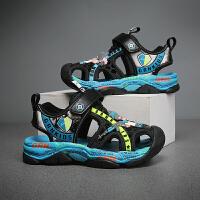 贵人鸟包头凉鞋2021年新款夏季男孩沙滩软底防滑中大童儿童男童鞋