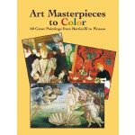 Art Masterpieces to Color: 60 Great Paintings from Botticel