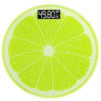 卡通电子称体重秤可爱迷你秤人体称重器 柠檬秤(28cm电池款)