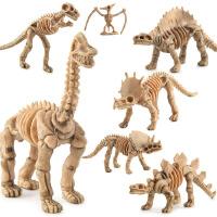 儿童益智玩具侏罗纪恐龙模型仿真恐龙模型考古挖掘骨架