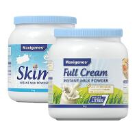 【 网易考拉】Maxigenes美可卓 全脂高钙奶粉(蓝胖子) 1千克+脱脂高钙奶粉1千克