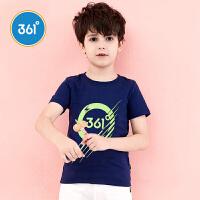 【顽倒底 每满100减50】361°361度童装夏季男童短袖针织衫 N51723201