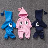 女婴儿连体衣服秋冬季0岁7个月男宝宝2冬装靓仔衣服新生儿外出服