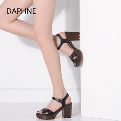 Daphne/达芙妮_Vivifleurs 夏季新品时尚高跟凉鞋女鞋