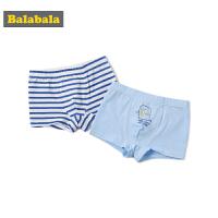 巴拉巴拉男童 儿童内裤平角裤秋季宝宝1-3岁棉质卡通四角裤两条装