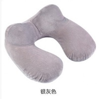 U型枕充气 吹气护颈椎充气枕头睡枕飞机便携旅行子母枕 旅游三宝