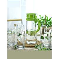 冷水壶玻璃耐高温 凉水壶耐热大茶壶凉水杯家用套装x8l
