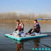 充气浮台魔毯魔毯漂浮平台时尚台水上运动用品超大浮力钓台充气船游艇浮式漂浮钓台
