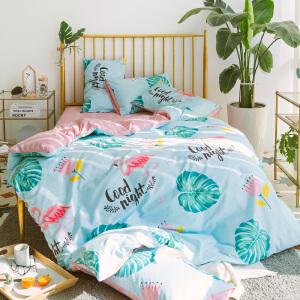 北欧小清新文艺风床单被套全棉4件套纯棉1.5m/1.8米床上用品四件套