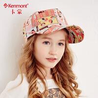 kenmont儿童棒球帽时尚卡通嘻哈帽韩国潮夏天帽子男童女童鸭舌帽太阳帽4715