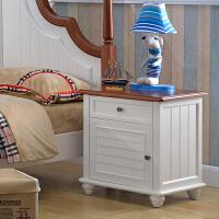 尚满 地中海系列儿童家具床头柜 儿童简易床头柜 一抽屉一柜储物柜 卧室家具床边柜 儿童床头柜