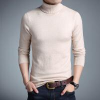 高领毛衣男韩版长袖打底衫加厚潮流针织衫修身型纯色百搭衣服冬天