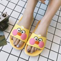 亲子拖鞋女夏卡通可爱家居厚底防滑洗澡软底室内居家浴室儿童凉拖