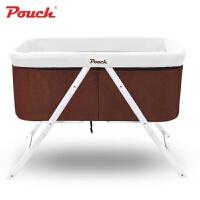 pouch婴儿床欧式儿童床多功能摇床宝宝床可折叠便携旅行摇篮床