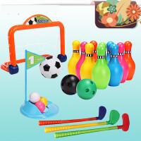 日本皇室健身系列儿童大号保龄球高尔夫球杆套装欢乐足球k2e