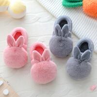 儿童棉拖鞋男女童冬季1-3岁6宝宝可爱包跟防滑软底公主中大童棉鞋