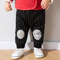 婴儿加绒长裤冬款棉裤男童洋气保暖裤子秋冬休闲裤冬装