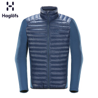 Haglofs火柴棍户外男款轻量保暖抓绒拼接夹克603630 欧版