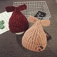 儿童毛线帽女童帽子冬天针织护耳帽保暖韩版潮公主宝宝帽子套头帽