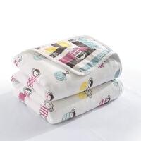 三/六�蛹�布毛巾被�棉�和�毛毯 沙�l空�{毯夏季薄款�稳穗p人毯子