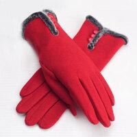 新款手套女士秋冬保暖透气棉触摸屏双层加绒加厚保暖手套