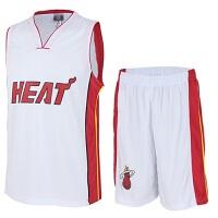 16夏季新款篮球套装百搭热火队球服韦德波什球服套装球迷球衣透气背心球衣 热火队