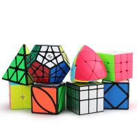 异形魔方镜面魔方顺滑比赛三阶金字塔三角斜转枫叶粽子五魔方玩具