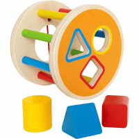 儿童节礼物 男孩积木滚滚乐1-2-3岁宝宝男女孩智力 分类积木盒 积木滚滚乐