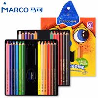 MARCO/马可 1650-24CB 三角粗杆油彩铅笔/24色 无毒油性彩色铅笔加粗彩铅芯儿童绘画套装涂鸦填色小学生美