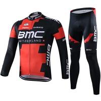 黑色骑行服套装男长袖春秋夏季环法单车衫自行车服多款 BC黑红长套