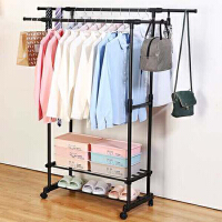 室内晾衣架落地简易晾衣杆单杆式晒衣架卧室凉衣架衣服架子挂衣架