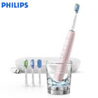飞利浦(PHILIPS)电动牙刷HX9924/22 钻石亮白智能型 充电式成人声波震动牙刷蓝牙版 冰晶粉