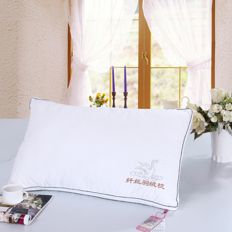 纤丝鹅绒枕头羽丝绒枕芯枕套3D高弹棉珍珠棉超细纤维 耐用难变形 发货周期:一般在付款后2-90天左右发货,具体发货时间请以与客服协商的时间为准