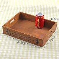 创意个性木质多肉花盆植物盆景托盘长方形木头盒子室内绿植小木盒3020 中等