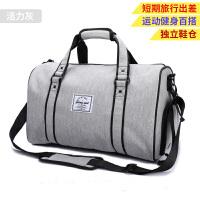 手提旅行包男手提包短途出差行李袋大容量行李包健身包女运动g 活力灰送密码锁 小