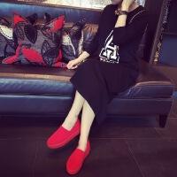 韩版个性时尚加长款长袖睡裙睡袍加肥超大码秋冬季纯棉睡衣女宽松 XL(胸围106 )