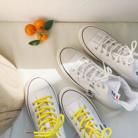帆布鞋女时尚新款学生百搭高帮平底运动单鞋ins潮休闲跑步小白鞋