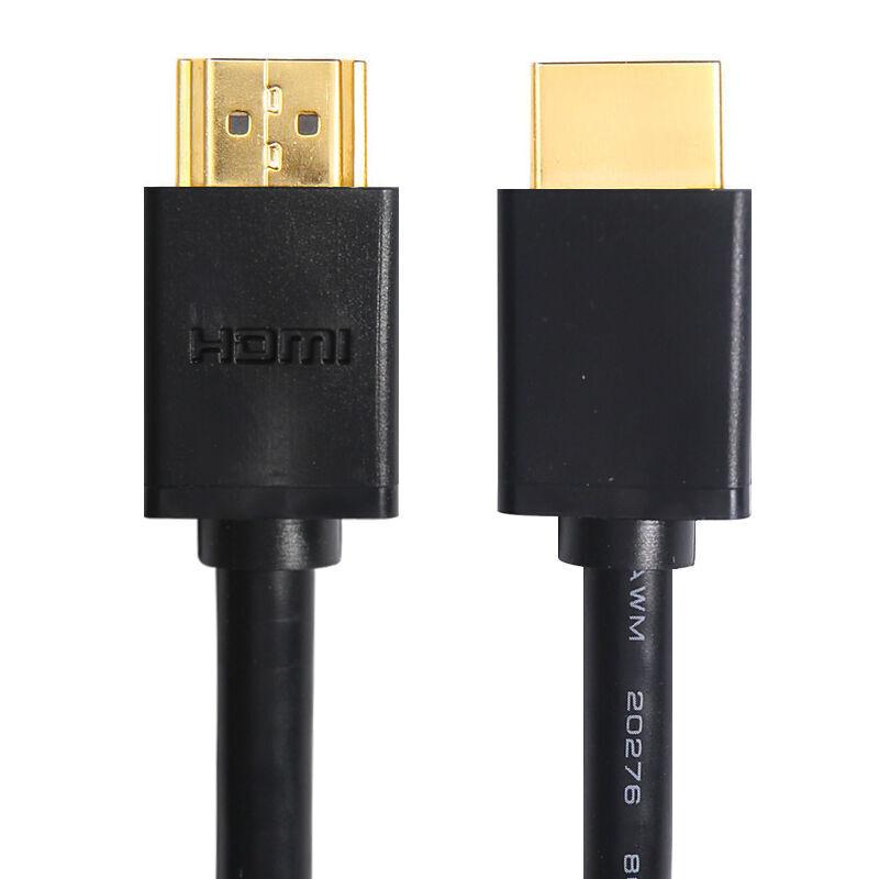 现代(HYUNDAI)HDMI2.0版数字高清转接器4K镀金口3D功能 黑色 1.5米HD40 数字高清转接器
