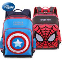 迪士尼小学生书包1-3年级美国队长书包6-12岁小学生双肩包男孩
