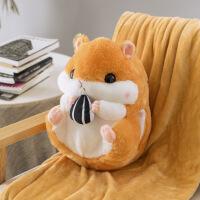 仓鼠暖手抱枕插手毛绒冬季小老鼠公仔手捂带毯子可爱女捂手暖手宝