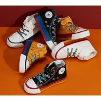 �和�高�头�布鞋男童鞋子女童中大童百搭小白布鞋