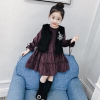 儿童中大童洋气童装外套女孩裙子两件套女童套装春装2018新款韩版