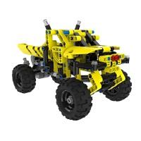【1件6折 2件5折】跃高 标致 小颗粒拼装积木 科技机械系列 Y58403越野先锋车 黄色
