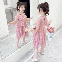 女童�B衣裙春秋公主裙�和��b裙子春�b小女孩�L袖