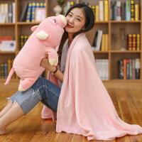 全店支持礼品卡 卡通动物三合一抱枕毯手捂毛绒玩具办公室午休空调毯大象玩偶布娃娃