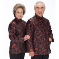 中老年男女情侣唐装简约大气爸妈中式祝寿金婚礼服上衣棉服优雅时尚