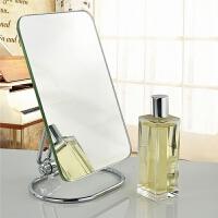 镜子家居化妆镜单面高清大镜子折叠便携台式镜美妆礼品梳 单色