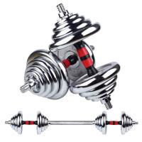 纯铁电镀哑铃男士健身器材家用练臂肌杠铃套装15/20/30kg40亚玲女 组合总误差1kg左右