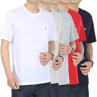 中年男士短袖t恤�A�I夏季��松中老年人男�b棉� �w恤衫父�H爸爸�b
